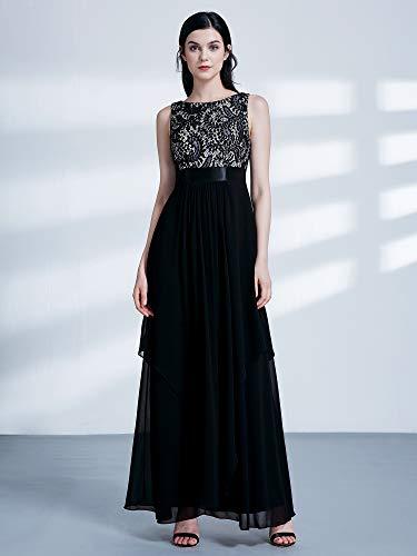 0d3dedd3c76 Ever-Pretty Elegant Sleeveless Round Neck Party Evening Dress 08217 at  Amazon Women s Clothing store
