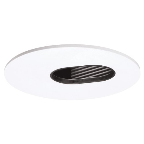 HALO Recessed 3006WHBB 3-Inch 35-Degree Adjustable Slot Aperture White Trim with Black ()