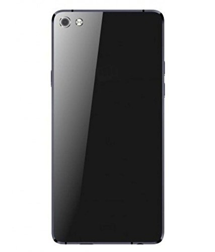 MIMOB Glass Back Door Panel for Micromax Canvas Sliver 5 Q450 Black