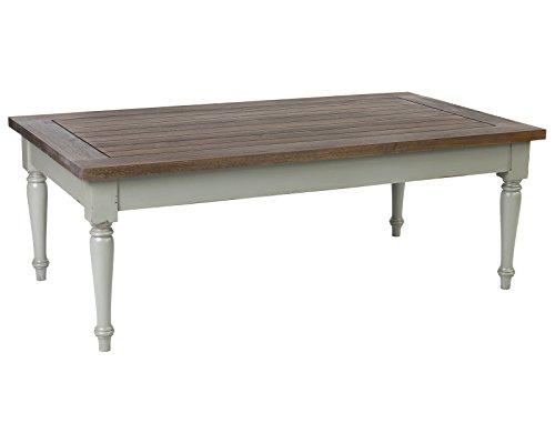 - East At Main Sharp Grey Mahogany Rectangular Coffee Table, (53