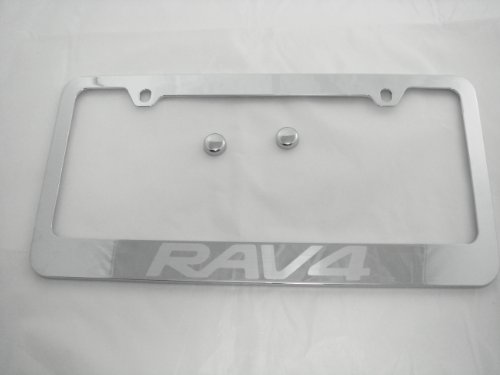 toyota-rav4-chrome-license-plate-frame-with-cap