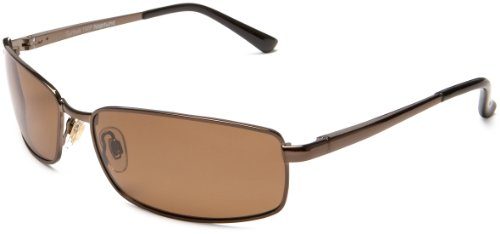 Sunbelt Men's Neptune 190 Polarized Sunglasses,Metallic Brown Frame/Brown Lens,one size (Sunbelt Sunglasses)