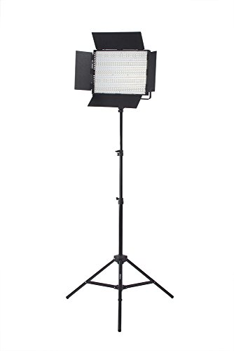 Pedestal Unit U-shaped (StudioPRO Single Ultra High Power Dimmable 1200 LED Photography Lighting Panel & Stand Kit, 1200 CN-1200CHS Continuous Bi Color 3200K-5600K Daylight Includes Barndoor, Photo Studio Video & Film Production Lighting Kit)