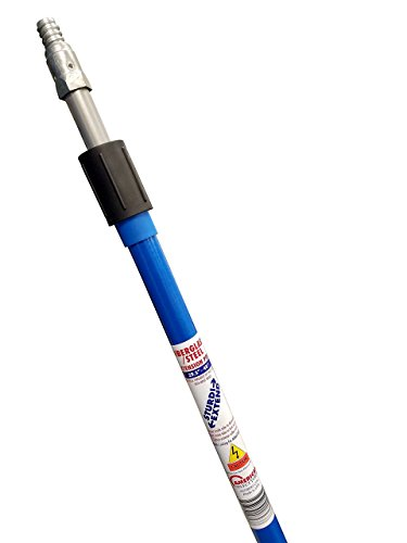 Sturdi-Extend 4 foot Fiberglass/Steel Double Lock Extension Pole with Threaded Metal Tip by Sturdi-Extend