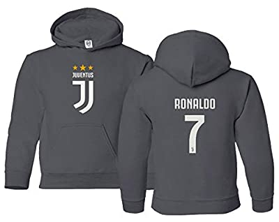 Spark Apparel New Soccer Shirt #7 Cristiano Ronaldo CR7 Boys Girls Youth Hooded Sweatshirt