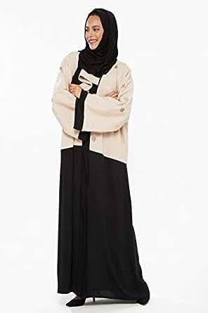 Almira Beige Religion Abaya For Women
