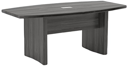 Office Steel Conference Table - Mayline ACTB6LGS Aberdeen 6' Boat Shape Conference Table, Gray Steel Tf