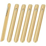 NEW, Restaurant Table Crumbers w/Pocket Clip, Gold-Finish Aluminum, Waiter Waitress Table Crumber - Set of 6
