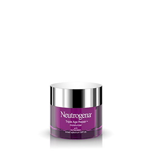 Neutrogena Triple Age Repair Vitamin C Face Moisturizer with SPF 25 Sunscreen, Anti Wrinkle Face Cream, Neck Cream, Firming Lotion & Dark Spot Corrector for Face with Glycerin & Shea Butter, 1.7 oz ()