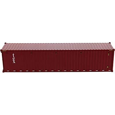 40' Dry Goods Sea Container TEX Burgundy Transport Series 1/50 Model by Diecast Masters 91027 A: Toys & Games