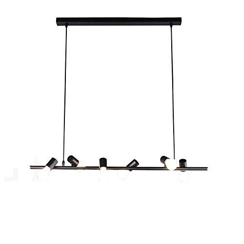 Retro Ceiling Chandelier 18-Lights Industrial Vintage Metal Iron Semi Flush Mount Hanging Pendant Lights E27 Lamp Holder Restaurant Bedroom Coffee Suspension Decor Lamps ( Color : Black , Size : -