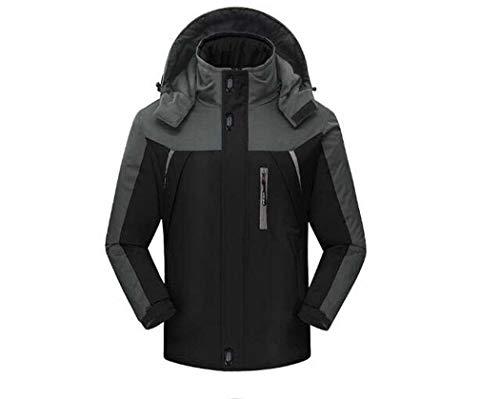 vent Manteau Plus l De Vêtements En Grande Rembourré Chaud Air Et Imperméable Veste Velours D'alpinisme Taille Coupe Homme Adong red Black Hommes Plein 5XwqAfO