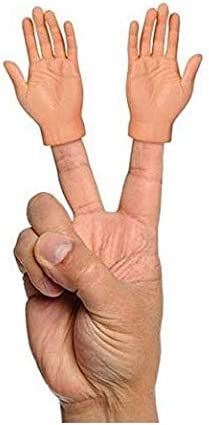 Hieefi Mini Manos De Dedo Diminuta Mano T/íteres De Dedo Me/ñique Puntales Mini Mano Broma Mini Manos del Dedo con Izquierda Manos Y Derecha para Adultos 1 Par