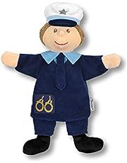 Handpop voor kinderen politieagent.