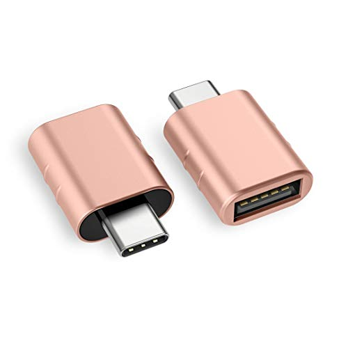 Syntech USB C to USB Adapter (2 Pack), Thunderbolt 3 to USB 3.0 Adapter Compatible with MacBook Pro 2019 and Before, MacBook Air 2019/2018, Dell XPS and More Type C Devices, Rose Gold