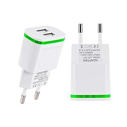 Amazon.com: USB cargador de pared, usinfly 2-Pack 2,1 A/5 V ...
