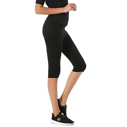Hot Weight Loss Slimming Body Shapers Yoga Sports Short Capris Pants, HAMACTIV Diving Material Thermo Fitness Sweat Sauna Neoprene Body Leggings 3/4 Pants