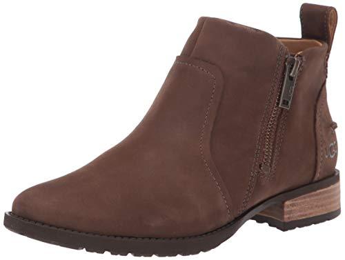 UGG Women's AUREO II Ankle Boot, pinewood Leather, 7.5 M US