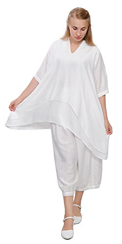 Marycrafts Womens Loose Fit Layer Tunic Blouse Top Dress ...