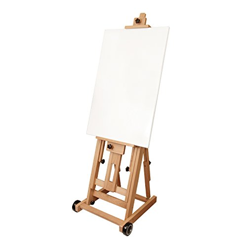 US Art Supply Master Multi-Function Studio Artist Wood Floor Easel, 19''Wide x 21''Deep x 56-1/2''High, (Adjusts to 97''High) by US Art Supply (Image #2)