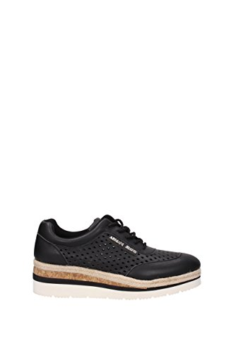 Armani Jeans Woven Scarpa Allacciata 7P555-00020 Damen Sneakers (black) Schwarz