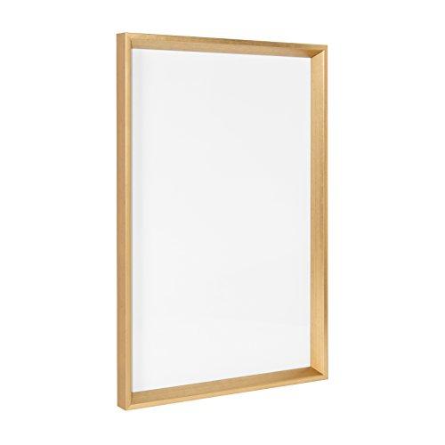 Kate and Laurel Calter Framed Magnetic Dry Erase Board, 16.5x25.5, Gold