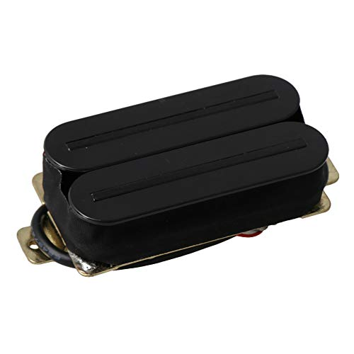 Yibuy Electric Guitar Dual Rail Double Coil Bridge Pickups H11-RD-CR Black ()