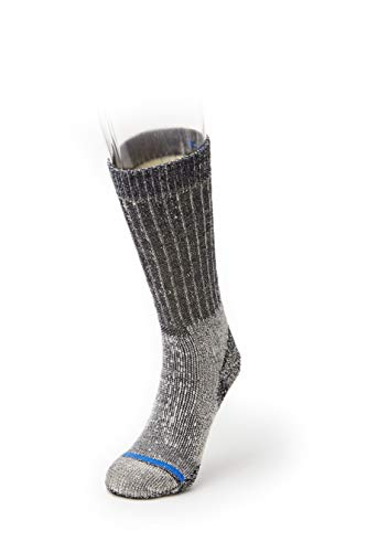 FITS Heavy Expedition - Boot: Durable, Cushioned Outdoor Socks, Navy, L