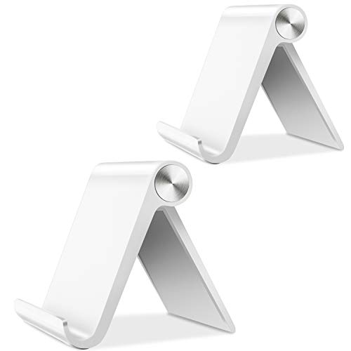 Fynix 2 Pack Phone Stand, Adjustable Phone Stand Cell Phone Holder Desktop Dock Compatible iPhone X 8 7 6 6s Plus 5 iPad mini, Mobile Phone, Tablet E-Reader, Accessories Desk-White