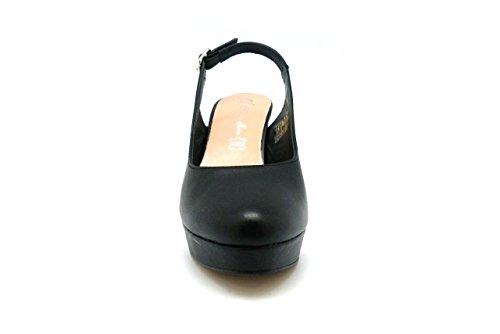zapato de tacón de mujer - Maria Jaen modelo 6126N Negro