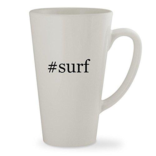 Surf   17Oz Hashtag White Sturdy Ceramic Latte Cup Mug