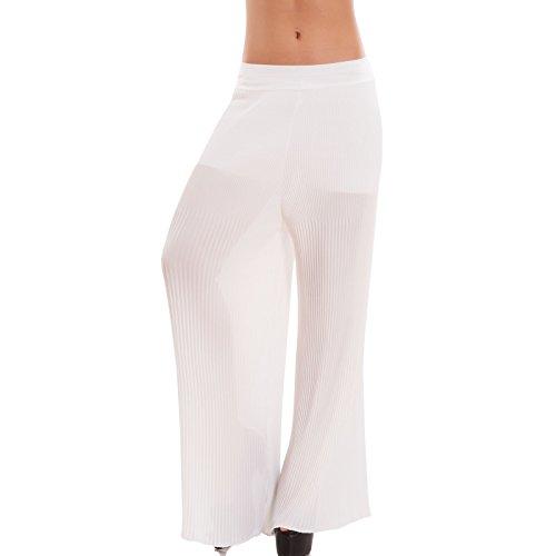 Toocool - Pantalón - tiro caído - para mujer Bianco
