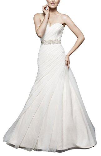Garn BRIDE einem mit GEORGE Einfache Organza Hochzeitskleid Weiß Kleid Linie Schatzausschnitt Schmetterling vTSTxqf