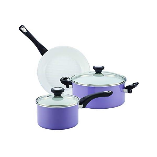 Farberware Ceramic Nonstick Cookware Pots and Pans Set, 12 Piece, Lavender 5
