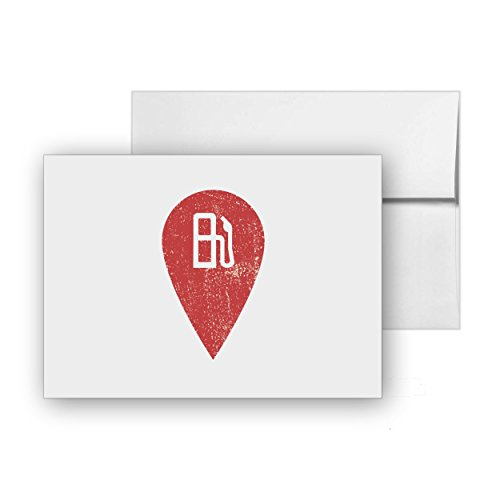 Gas Station Diesel Location Gasoline Fuel, Blank Card Invitation Pack, 15 cards at 4x6, with White Envelopes, Item 617312 (Best Diesel Gas Stations)