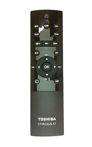 Toshiba CT-RC2US-17 LCD TV Remote Control for 32L221U, 43L621U, 49L621U, 55L421U, 55L621U, 65L621U
