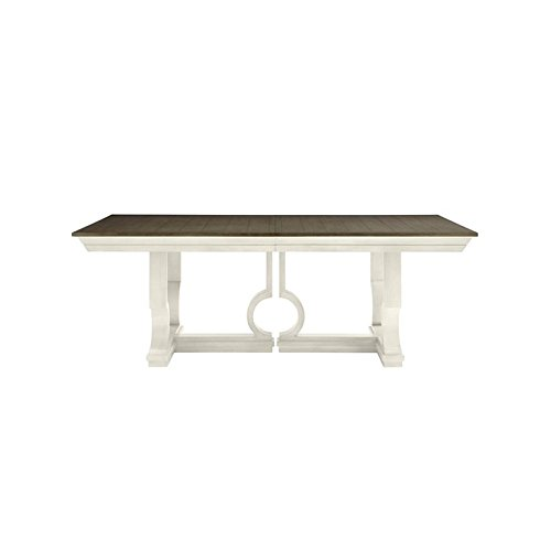Coastal Living Oasis-Moonrise Pedestal Dining Table in Saltbox White Stanley Dining Room