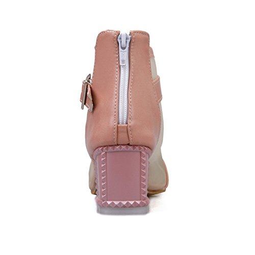 Toe Girls Shoes Heels Pointed AdeeSu Pumps Polyurethane Kitten Pink Fn4xwgwZ