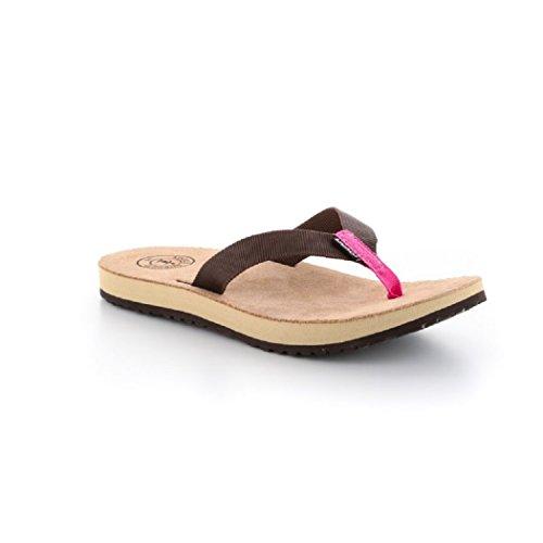 Mujer Braun Source Para pink De Piel Sandalias xwqFIp