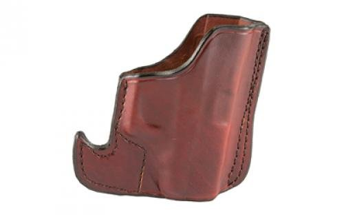 Don Hume 001 Front Pocket Holster, Fits Glock 42, Ambidextrous, Brown Leather J100144R