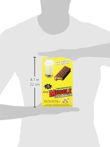 Muscle Foods Muscle Sandwich Bar, Peanut Butter Honey Banana, 62 Gram, 12 Count