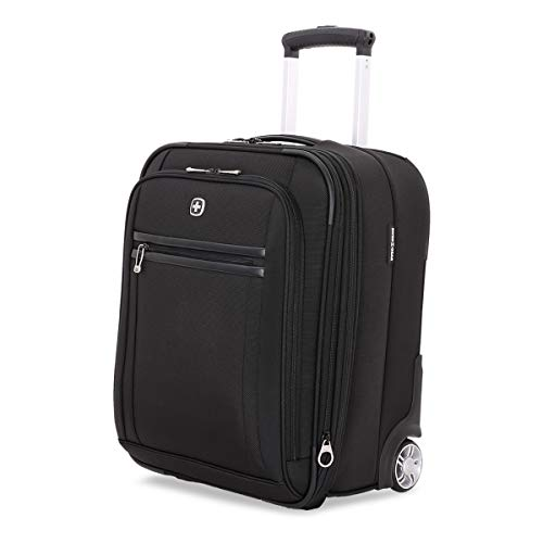 SWISSGEAR Premium Rolling Carry-On 19-inch Luggage | Wheeled Weekend Travel Suitcase | Men's and Women's - Black