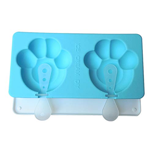 Silicone Ice Pop Molds Popsicle Molds Popsicle Maker Fruitsicle Frozen Pop Tray with 2 Lids and Sticks - DIY Ice Cream Maker For Kids BPA Free