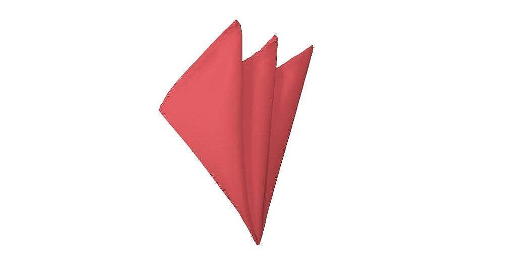 Solid Coral Rose Handkerchief