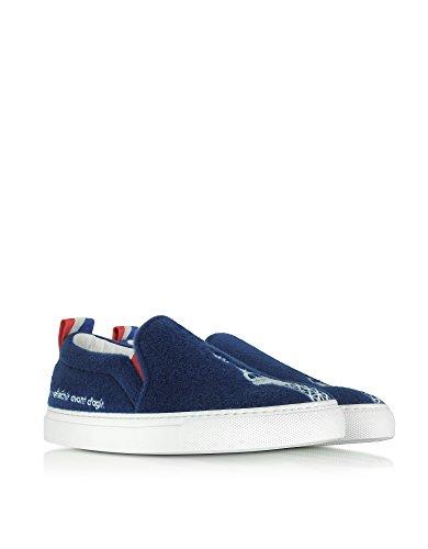 On Slip Blue Women's Fabric Sneakers Joshua 10048PARIS Sanders tYgzX