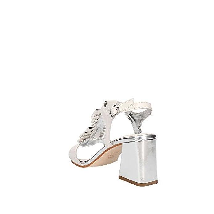 75 Ds18ap12 silver Bianco Scarpe Mod Donna Apepazza Paulette Pelle Sandalo Tc