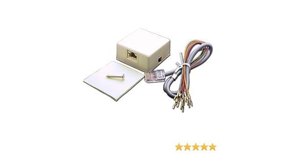 amazon com : elk rjset telco jack and cord : telephone cords : camera &  photo