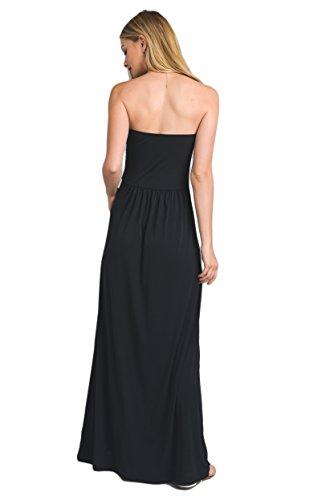 18fecff7b17 Vanilla Bay Women s Strapless Full Length Maxi Dress with Pockets ...