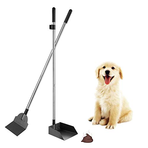 (SCENEREAL Pet Poop Tray & Spade Set Dog Cat Waste Removal Scoop with 37.4