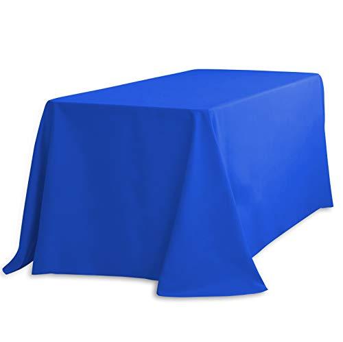 Rectangular Polyester Tablecloth 90X156 Royal Blue Kitchen a